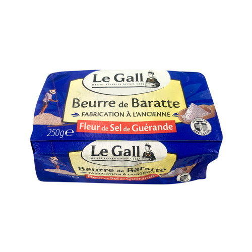 LE GALL France Guérande Brittany Sea-Salted Churned Butter 法國蓋朗德布列塔尼海鹽攪拌牛油 250g