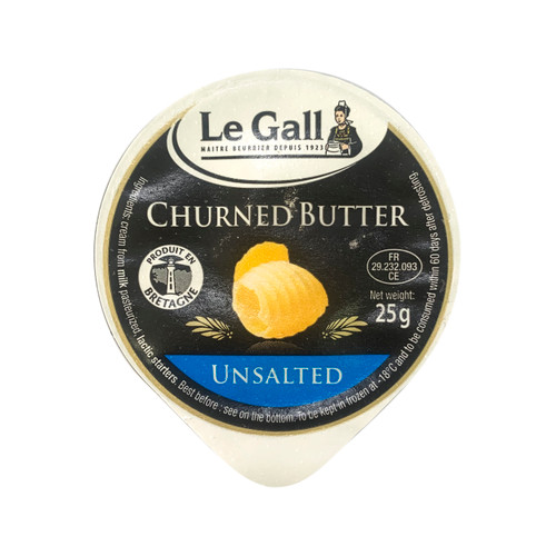 LE GALL France Unsalted Churned Mini Butter Dish 法國迷你無鹽攪拌牛油 25g x 10pc, 250克/袋 (-18C)