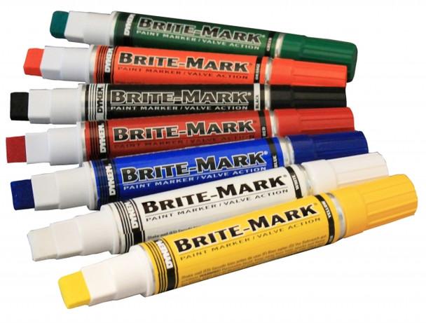 YELLOW JUMBO PAINT MARKER BRITE-MARK®  Broad Tip