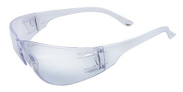 RAD64051205 Clear wrap around safety glasses  Polycarbonate Anti-Scratch Lens. Meets ANSI Z87+ Standard -1 Box of 12