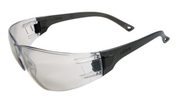 Radnor® Classic Series Safety Glasses With Gray Frame And Clear Polycarbonate Anti-Scratch Indoor/Outdoor Lens Part #:RAD64051209