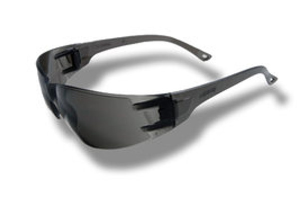 Classic Series Safety Glasses With Gray Frame And Gray Polycarbonate Anti-Scratch Lens