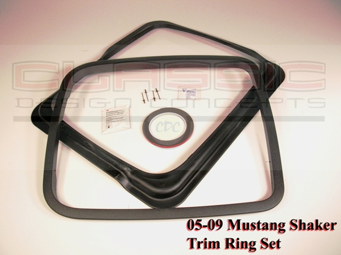 Mustang Shaker Trim Ring Set (2005-14)