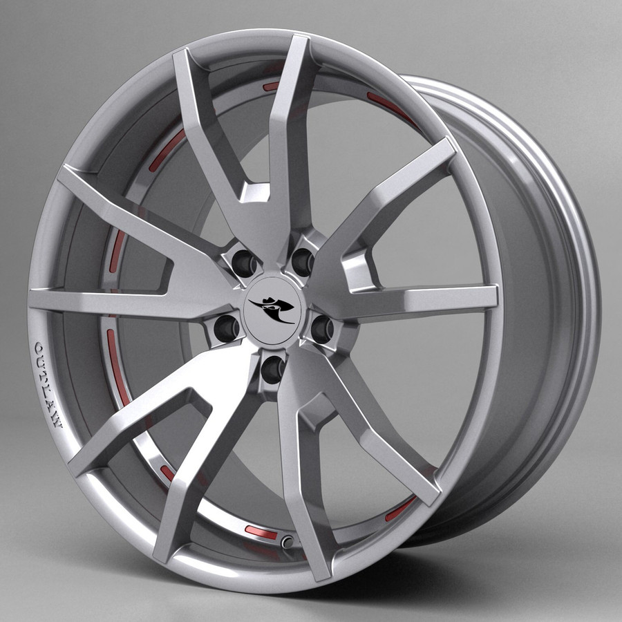 2015 Mustang Outlaw Wheel, HiHo Silver w/ OPTIONAL Graphics Inserts