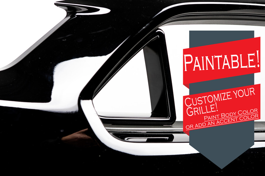 Paintable grille corners means LIMITLESS customization possibilities! Black makes for a great accent color to most any factory paint option but if you are someone who wants to be unique, the Outlaw Shadow Grille can be painted to any accent color you can think of!
