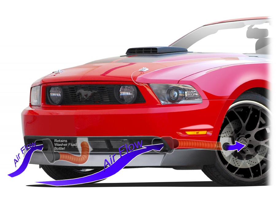 Mustang Chin Spoiler Brake Duct Kit (2010-12)