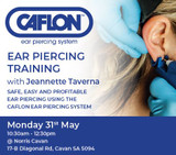 Join us for the next Caflon Ear Piercing Training - SA, Monday 31st May