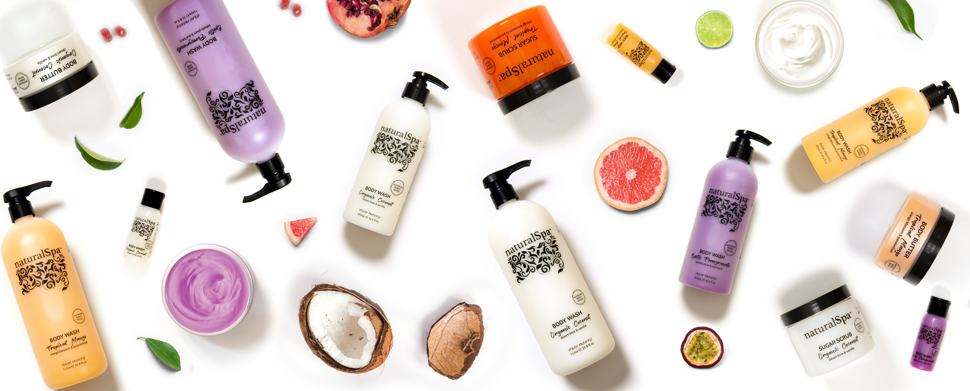 NaturalSpa Fruit Collection Feature Banner Image