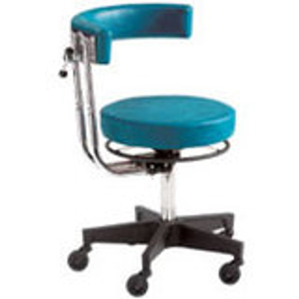 """Reliance 5356 Pneumatic Stool w/Ring (15"""" Round Seat & 3-way Adjustable Support Arm)"""
