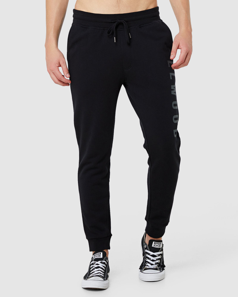 ELWD Mens Huff N Puff Track Pants Black