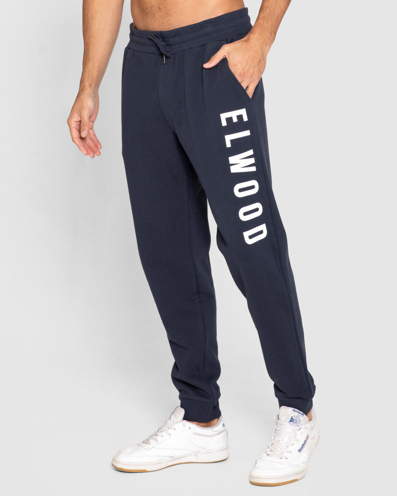ELWD Mens Huff N Puff Track Pants Dark Navy