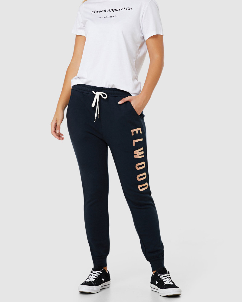 ELWD Huff N Puff Track Pants Navy/Gold