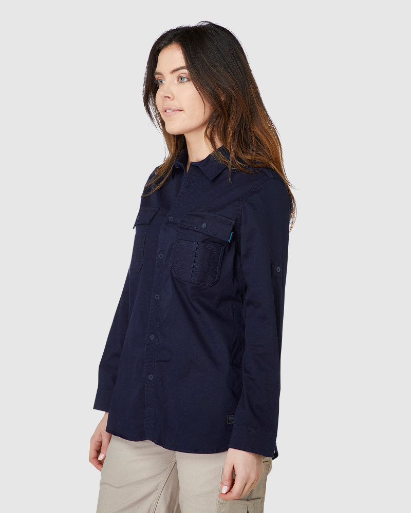 ELWD Womens Utility Shirt Navy