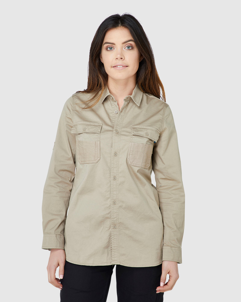 ELWD Womens Utility Shirt Light Stone