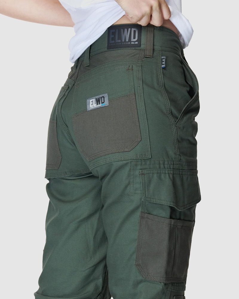 ELWD Womens  Green WOMENS UTILITY PANT3
