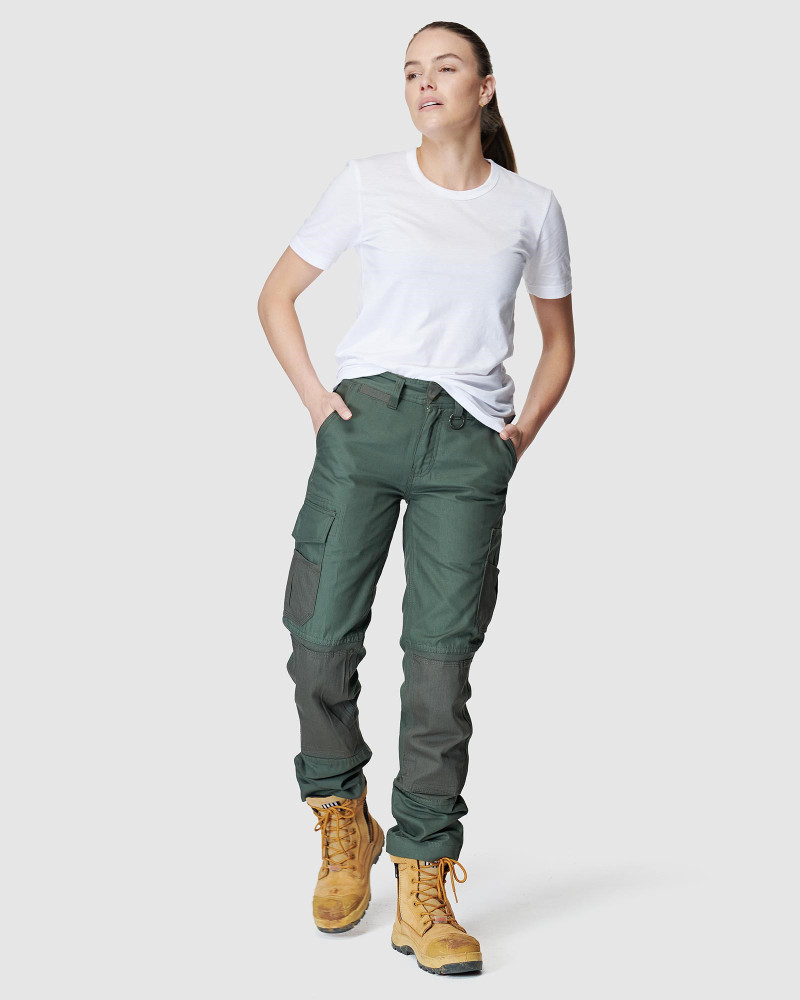ELWD Womens  Green WOMENS UTILITY PANT4