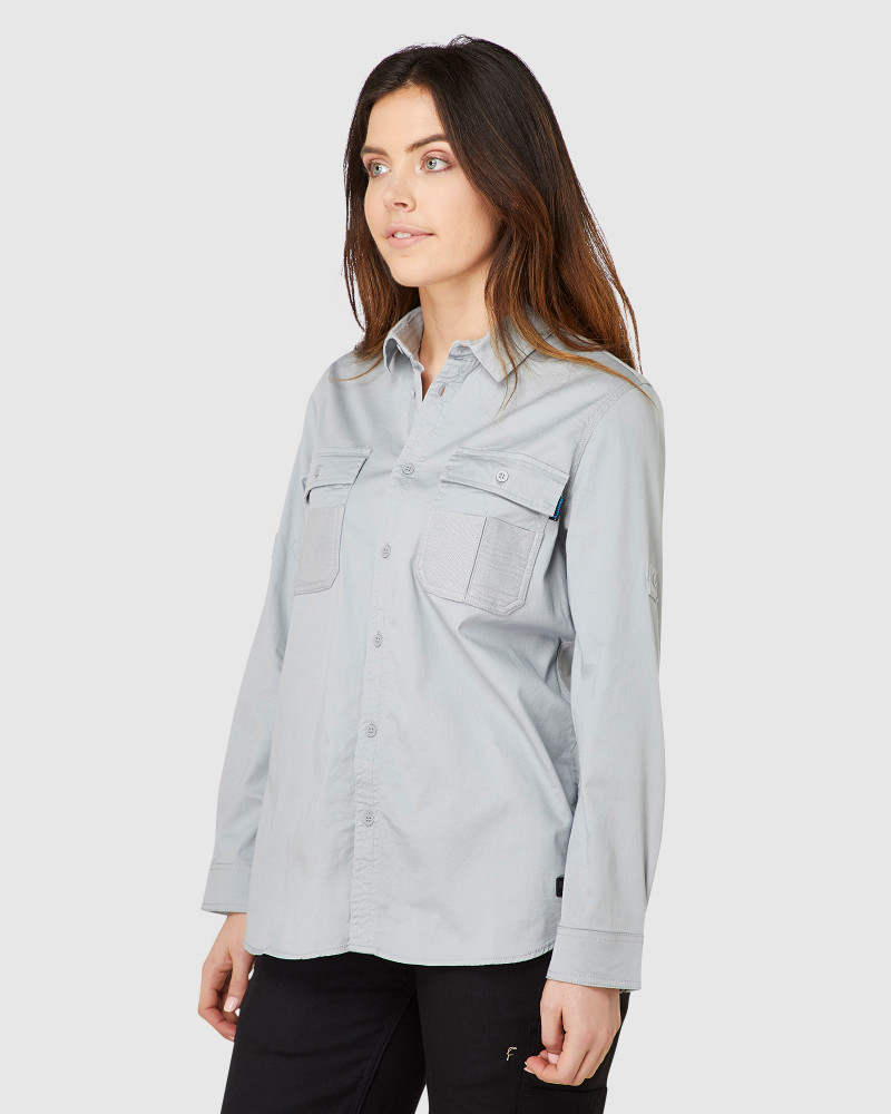 ELWD Womens Utility Shirt Dove Grey