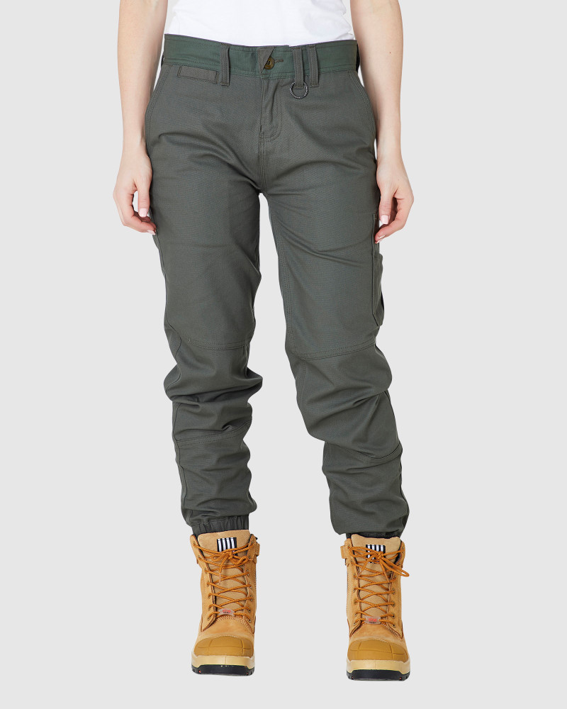 ELWD Womens Cuffed Pant Army