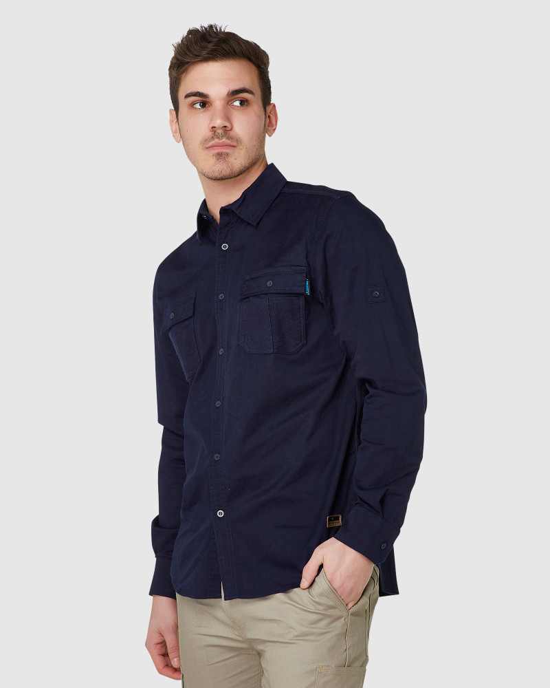 ELWD Mens Utility Shirt Navy