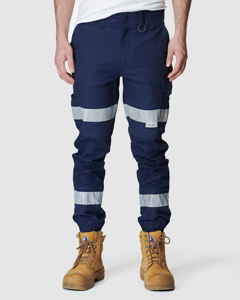 ELWD Mens Reflective Cuffed Pant Navy