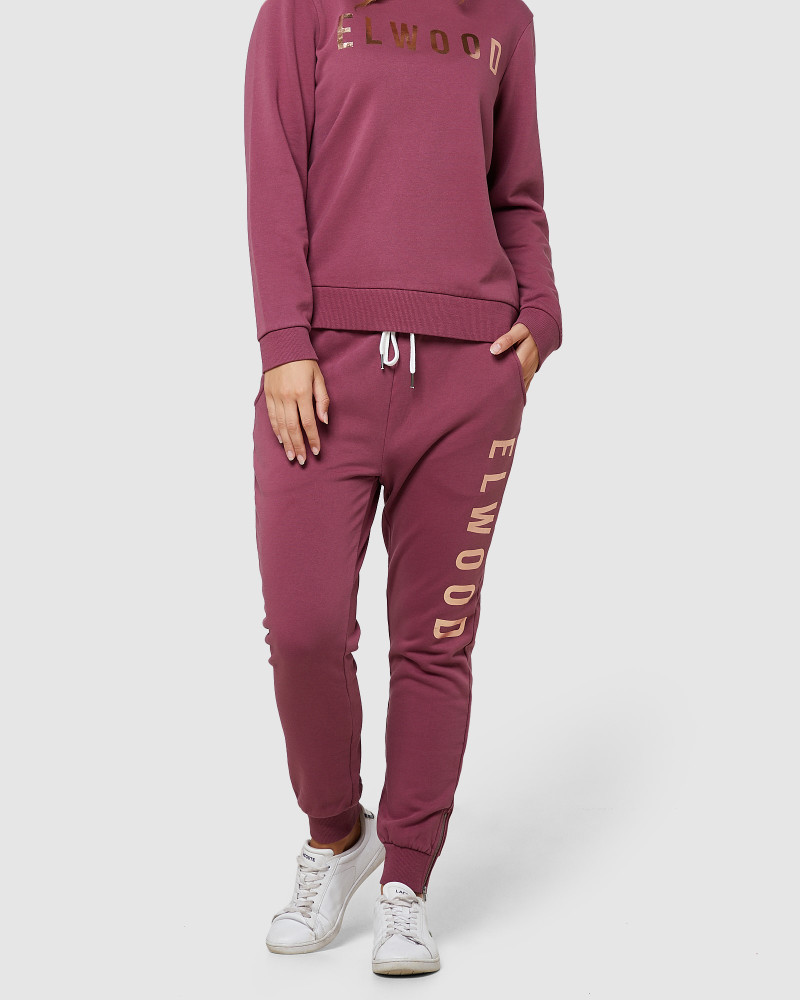 ELWD Huff N Puff Track Pants Mulberry