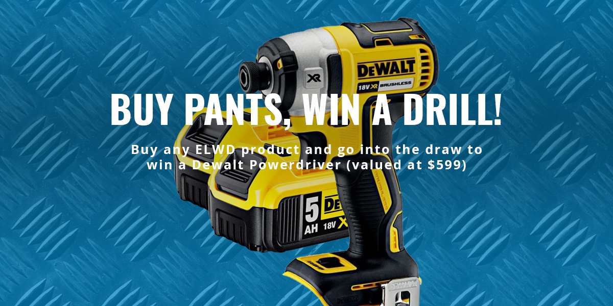 Purchase any ELWD product and go into the draw to win a Dewalt Drill