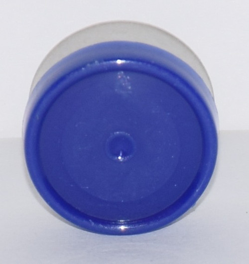 13mm Dark Blue Aluminum Plain Flip Off Seals - 100 Pack