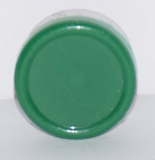 13mm Green Aluminum Plain Flip Off Seals - 100 Pack