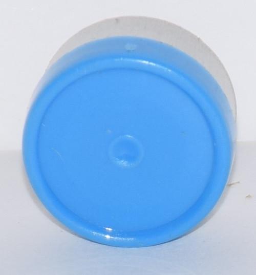 13mm Light Blue Aluminum Plain Flip Off Seals - 50 Pack