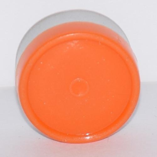 13mm Orange Aluminum Plain Flip Off Seals - 100 Pack