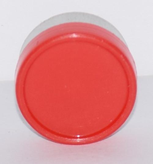 13mm Red Aluminum Plain Flip Off Seals - 100 Pack