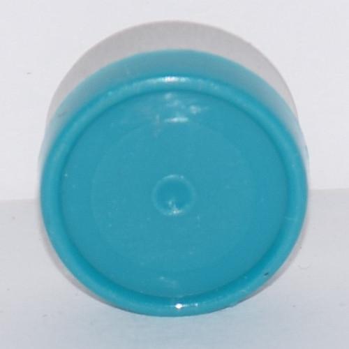 13mm Turquoise Aluminum Plain Flip Off Seals - 50 Pack