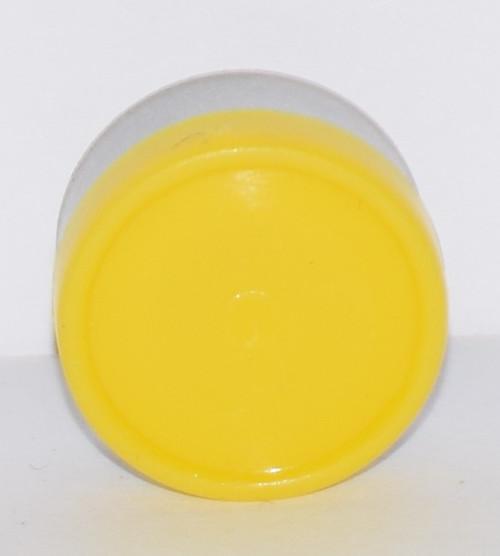 13mm Yellow Aluminum Plain Flip Off Seals - 100 Pack