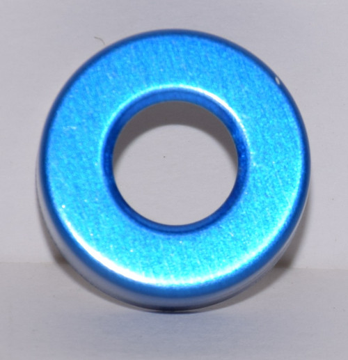 20mm Blue Aluminum Hole Punched Seals - 100 Seals
