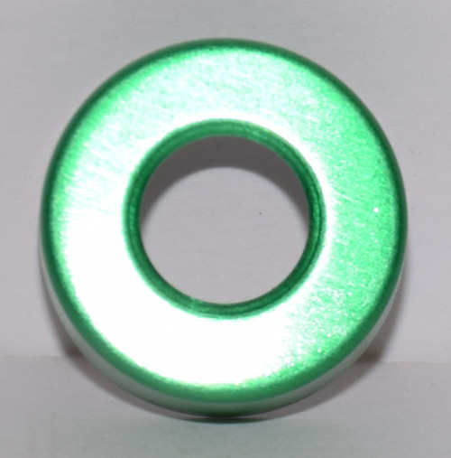 20mm Green Aluminum Hole Punched Seals - 100 Seals