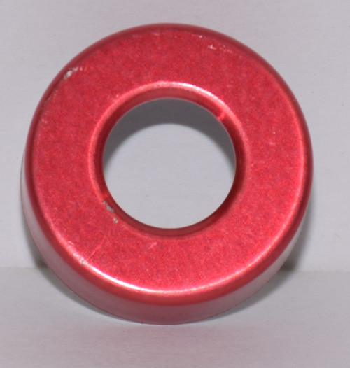 20mm Red Aluminum Hole Punched Seals - 100 Seals