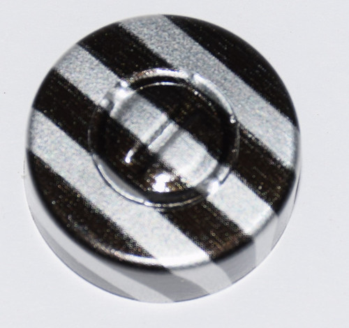 20mm Black Stripe Aluminum Center Tear Seals - 25 Pack