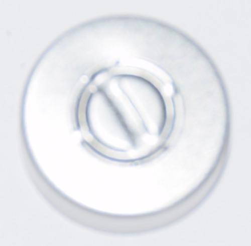 20mm Natural/Silver Aluminum Center Tear Seals - 25 Pack