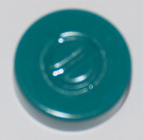 20mm Turquoise Aluminum Center Tear Seals - 25 Pack