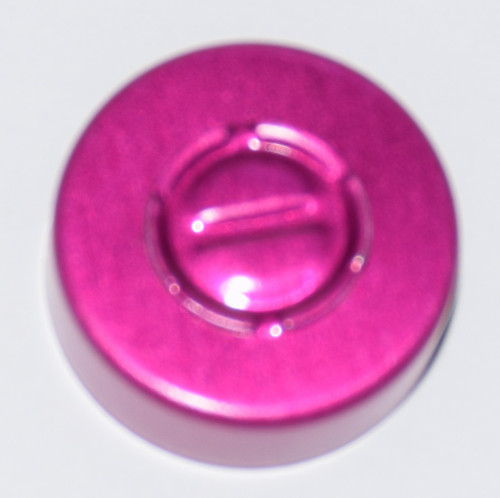 20mm Wine Aluminum Center Tear Seals - 25 Pack
