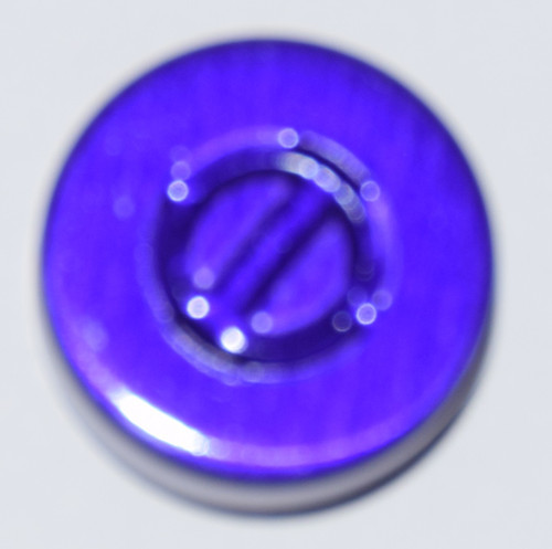 20mm Purple Aluminum Center Tear Seals - 50 Pack