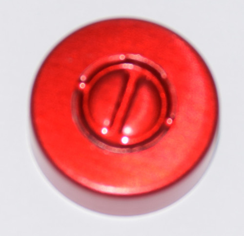 20mm Red Aluminum Center Tear Seals - 50 Pack