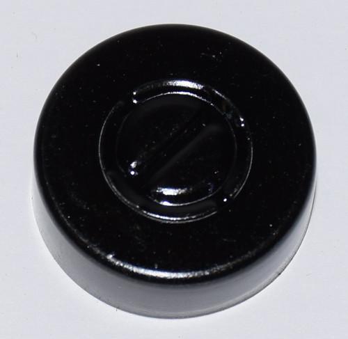 20mm Black Aluminum Center Tear Seals - 100 Pack