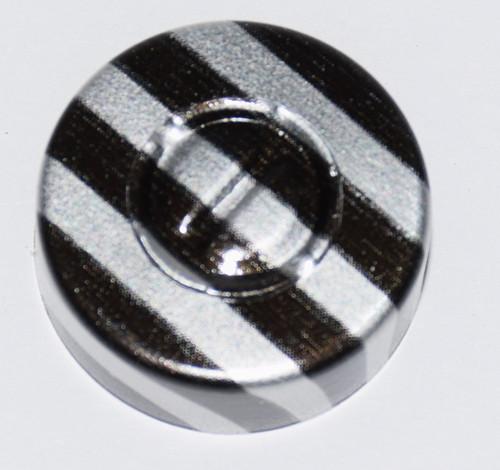 20mm Black Stripe Aluminum Center Tear Seals - 100 Pack