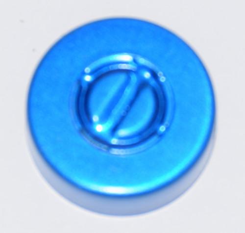 20mm Blue Aluminum Center Tear Seals - 100 Pack