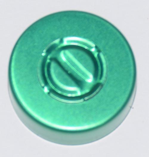 20mm Green Aluminum Center Tear Seals - 100 Pack
