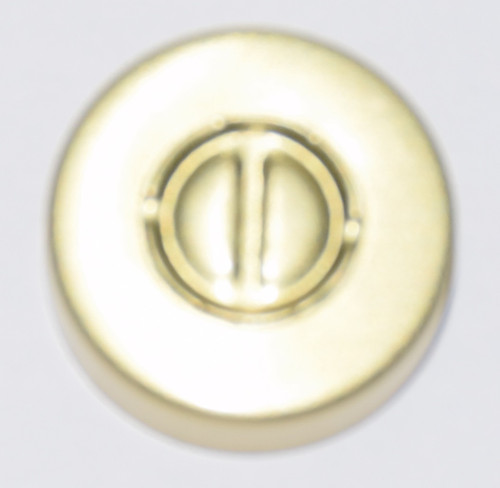 20mm Gold Aluminum Center Tear Seals - 100 Pack
