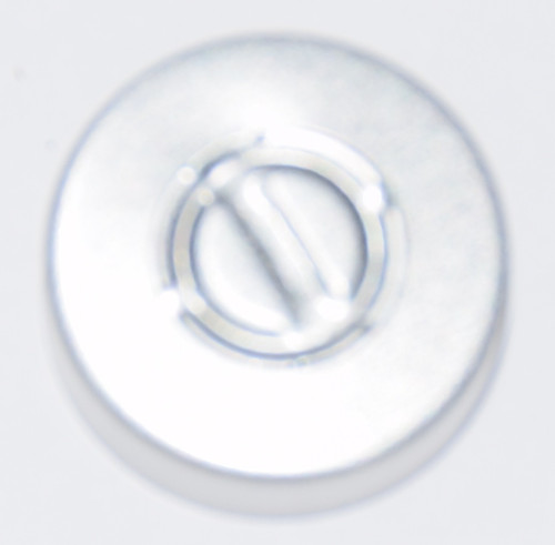 20mm Natural/Silver Aluminum Center Tear Seals - 100 Pack