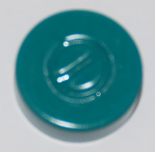 20mm Turquoise Aluminum Center Tear Seals - 100 Pack