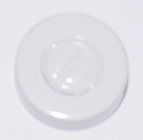 20mm White Aluminum Center Tear Seals - 100 Pack